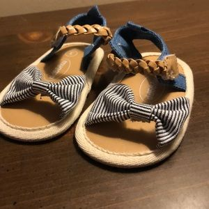 Shoes - 🏷5/$20🏷 Baby sandals - navy white stripe.